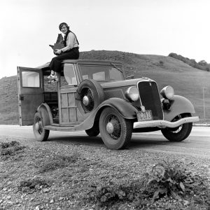 Dorothea Lange en février 1936.