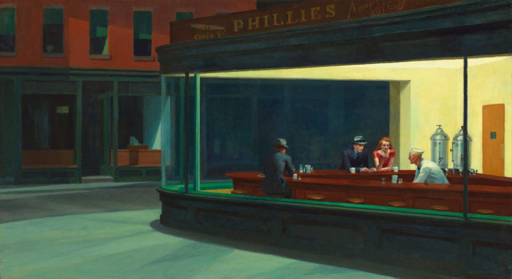 Nighthawks, 1906, Edward Hopper