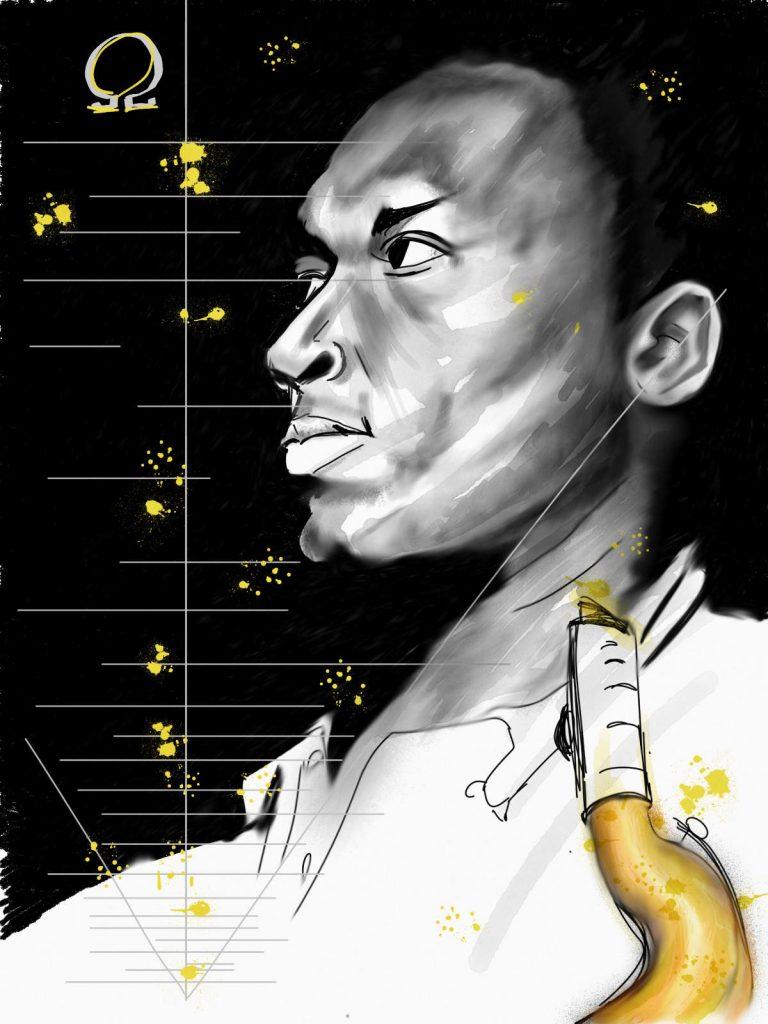 Trane (John Coltrane) par Jean-Pierre Marquis