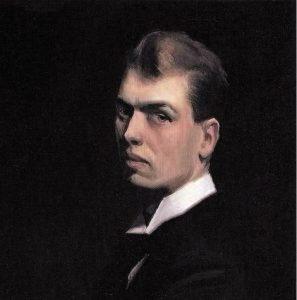 Edward Hopper (autoportrait, 1903-1906, Whithney Museum of American art, NY)