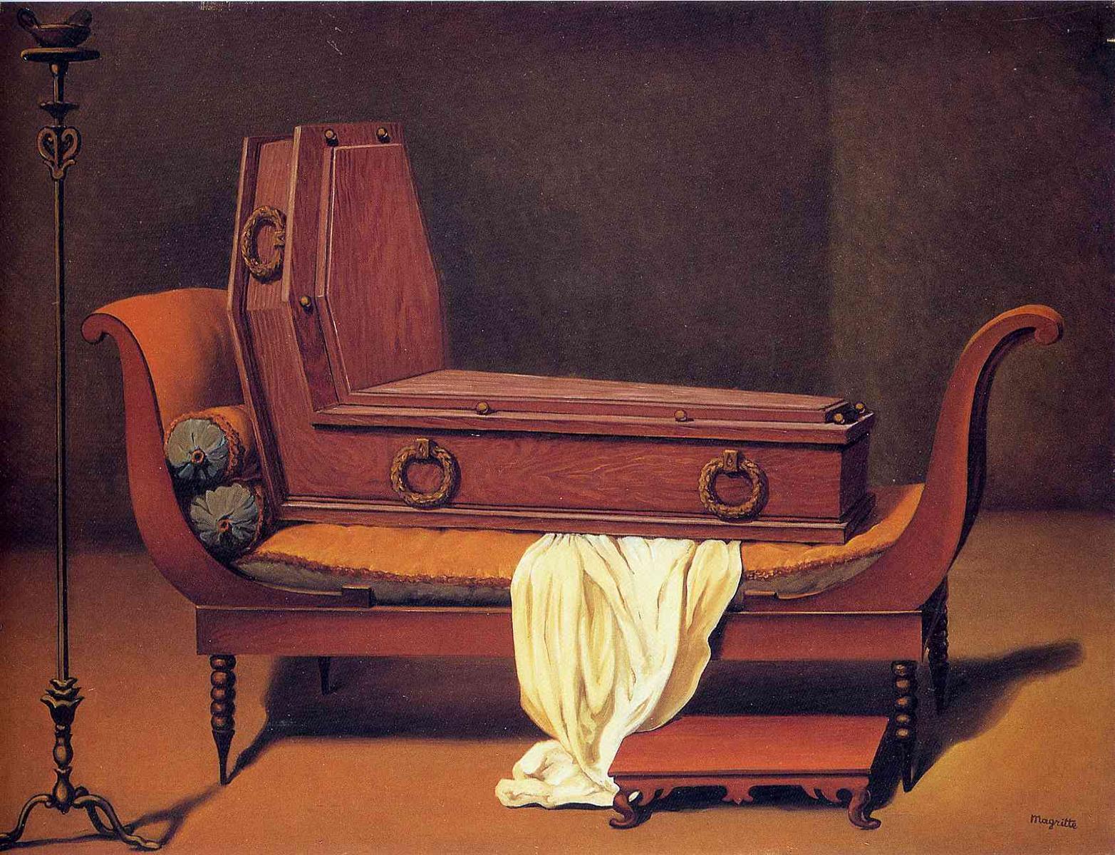 Perspective: Madame Récamier de David, 1951, huile sur toile