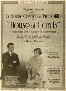 Publicité pour le film House of cards, 1917