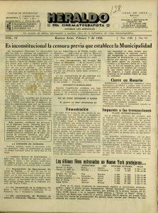 Heraldo de Cinematografista, 7 février 1934