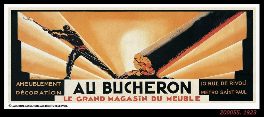 Au bucheron (1923) par Cassandre