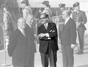 Lester B. Pearson, Roland Michener, Daniel Johnson et Jean Drapeau (Expo 67)