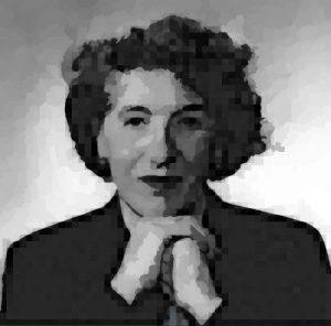 Portrait numérique d'Enid Blyton (licence CC-0) d'après photo non documentée (licence inconnue).