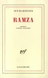 Couverture de «Ramza», roman de Out-El-Kouloub, dans la collection NRF de Gallimard.