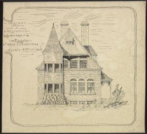 Proposition pour une résidence de banlieue (1896)