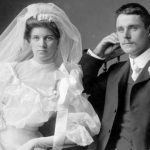 Frank Cyril Swannell and Ada Mary Driver on their wedding day