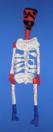 Statue de squelette, par Frida Kahlo.
