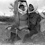 Kispiox Margaret and her baby at Tatla Lake