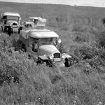 Bedaux expedition; Bedaux tractors in the Peace River block - 1934