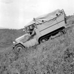 Bedaux expedition; Bedaux tractor on Cameron Hill - 1934