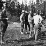 Bedaux expedition; Charles E. Bedaux watches Oscar-winning cinematographer Floyd Crosby shoot a scene - 1934