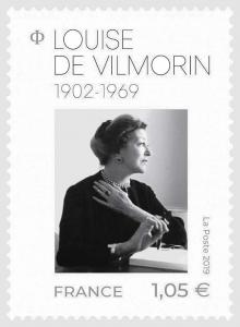Timbre poste: Louise de Vilmorin