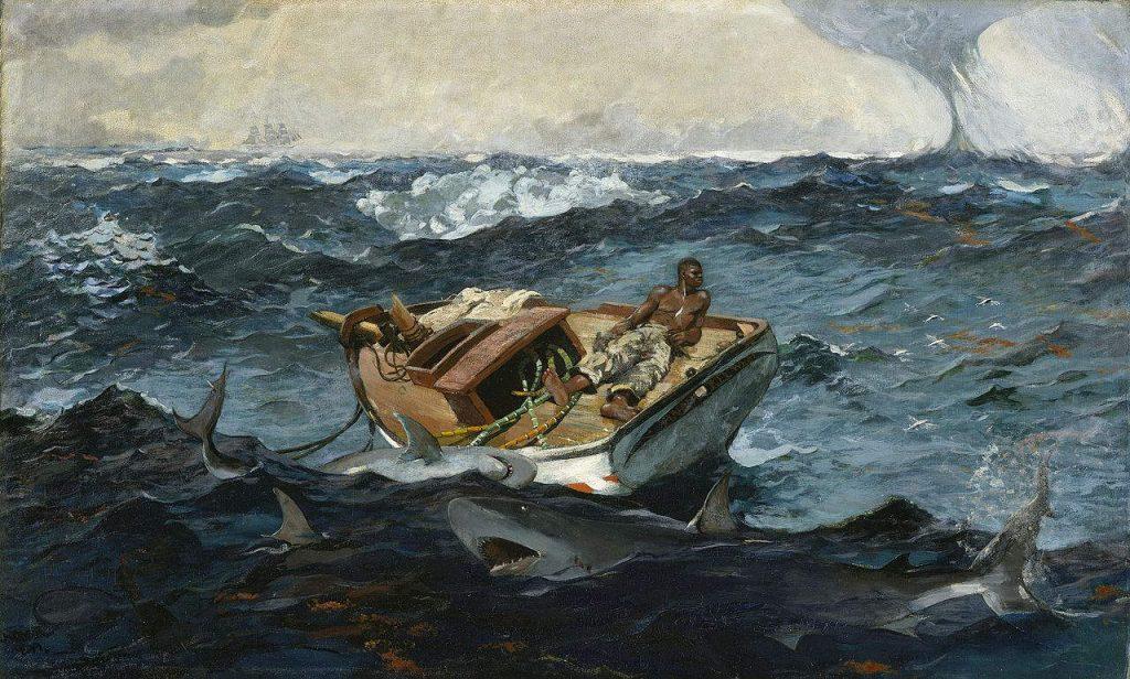 "Winslow Homer. ""The Gulf Stream"" (1899). Metropolitan Museum of Art."